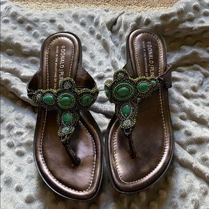 Women's small wedge sandals size 9!